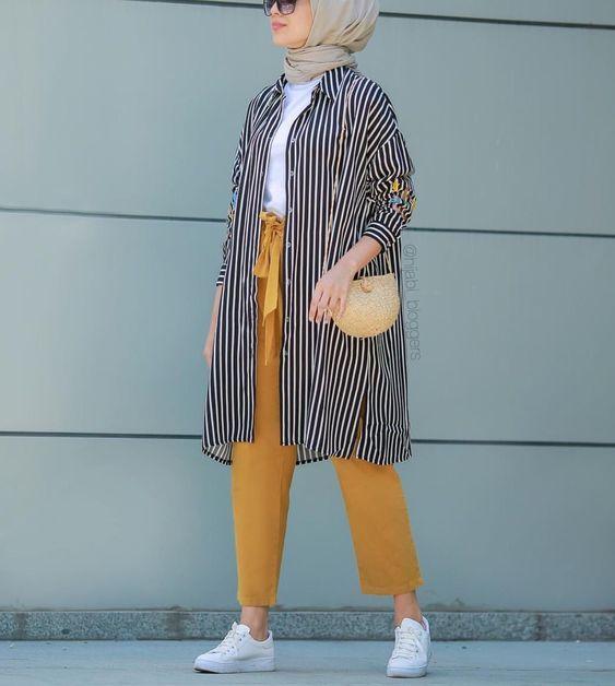 صورة تنسيق ملابس محجبات , اقوي كولكشن ملابس للمحجبات 3591 2