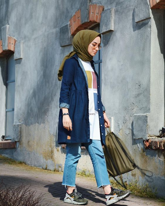 صورة تنسيق ملابس محجبات , اقوي كولكشن ملابس للمحجبات 3591 3