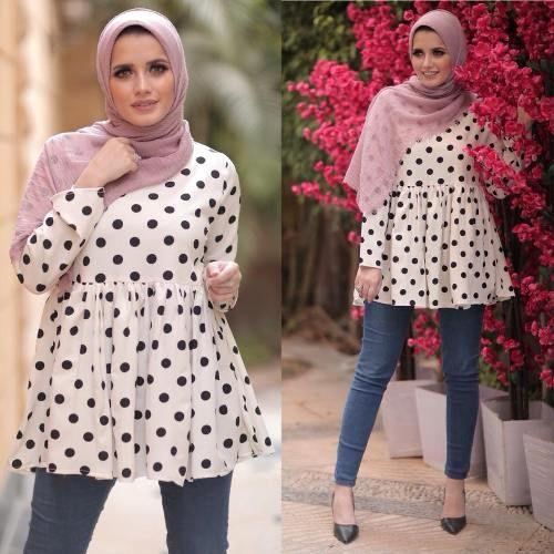 صورة تنسيق ملابس محجبات , اقوي كولكشن ملابس للمحجبات 3591 4