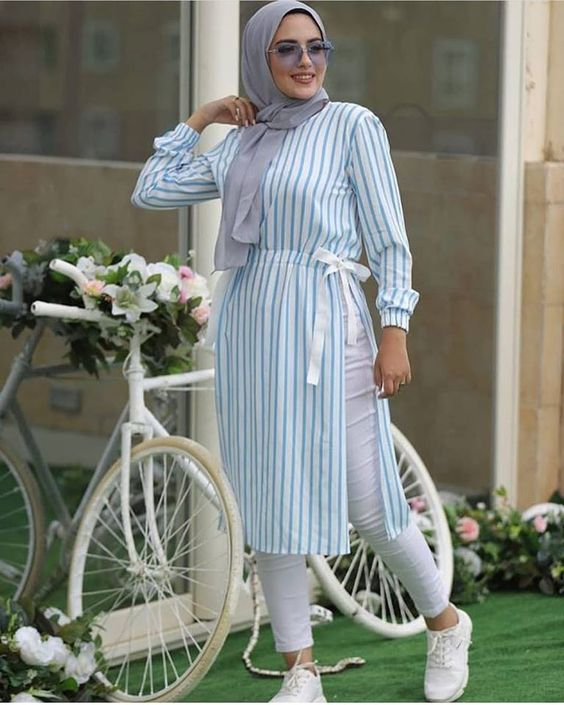 صورة تنسيق ملابس محجبات , اقوي كولكشن ملابس للمحجبات 3591 6