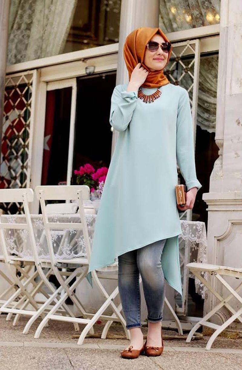 صورة تنسيق ملابس محجبات , اقوي كولكشن ملابس للمحجبات 3591 8