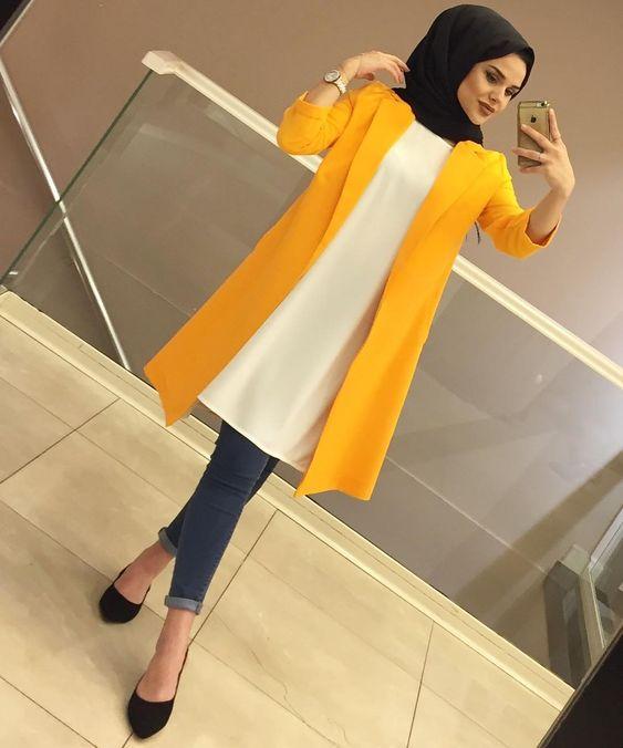 صورة تنسيق ملابس محجبات , اقوي كولكشن ملابس للمحجبات 3591