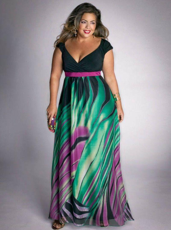 صورة ملابس للسمينات بالصور , السمينة لها حظ في الملابس 3295 9