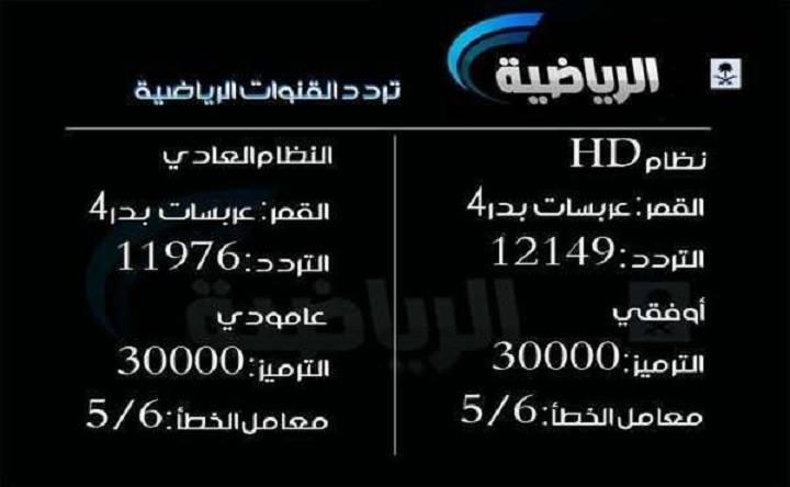 صورة تردد قنوات السعودية الرياضية الجديد , تابع معنا تردد قنوات السعودية الرياضية 3298