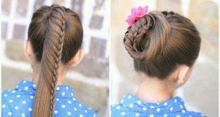 صورة شدة شعر سهلة , المدارس قربت الشعر مشكلة تسريحات شعر للبنات واو جنان