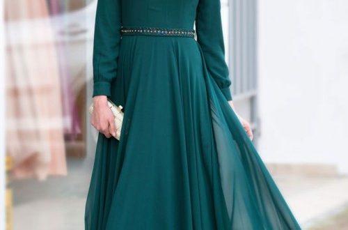 صور صور فساتين طويلة للمحجبات , تشكيلة جنان وروعة من الفساتين لاحلى محجبة في الدنيا