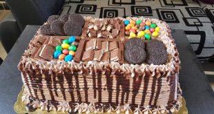 صورة اجمل تزيين كيك , طرق جديدة في تزيين الكيكة