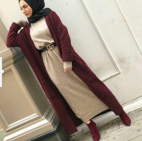 صورة ملابس بنات كيوت محجبات , موضة الشتاء للمحجبات 1108 1