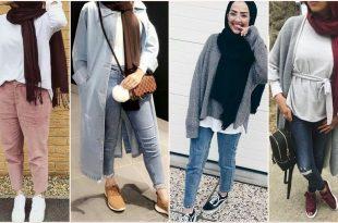 صورة ملابس بنات كيوت محجبات , موضة الشتاء للمحجبات 1108 14 310x205