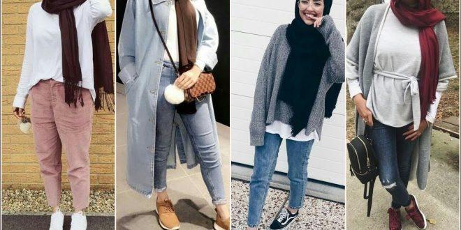 صورة ملابس بنات كيوت محجبات , موضة الشتاء للمحجبات