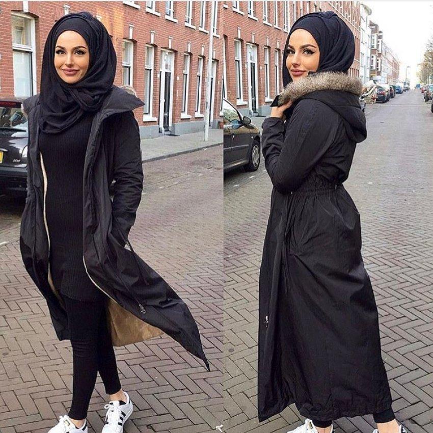 صورة ملابس بنات كيوت محجبات , موضة الشتاء للمحجبات 1108 2