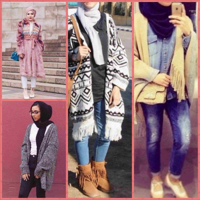 صورة ملابس بنات كيوت محجبات , موضة الشتاء للمحجبات 1108 3