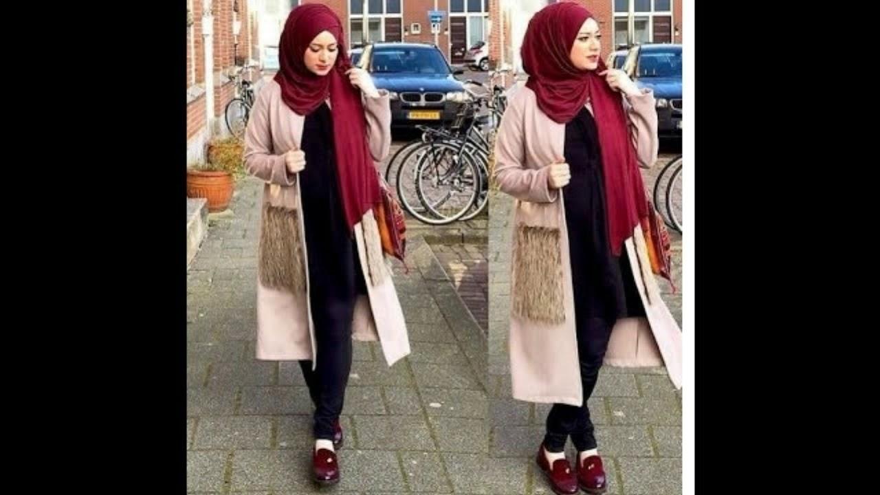 صورة ملابس بنات كيوت محجبات , موضة الشتاء للمحجبات 1108 5