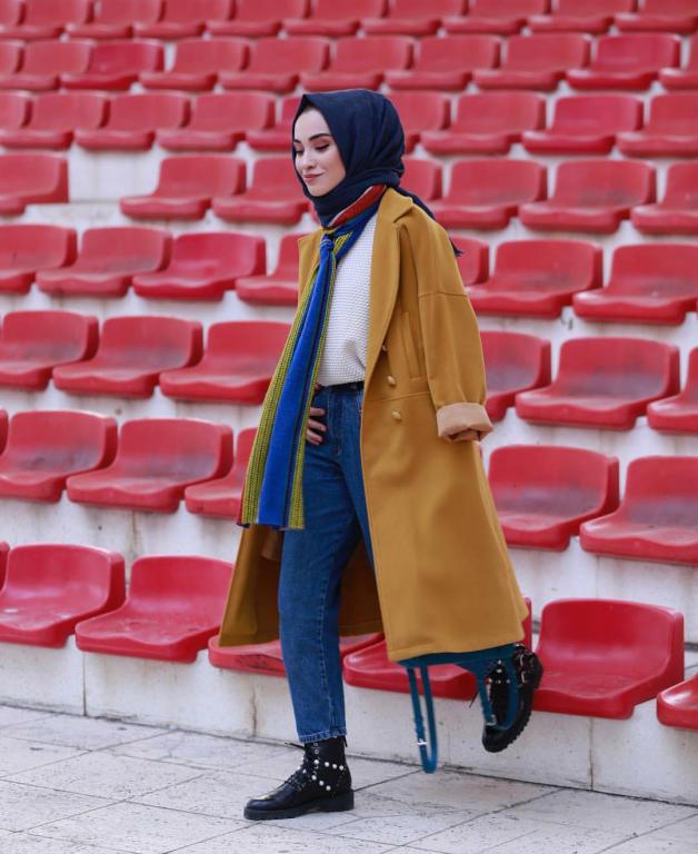 صورة ملابس بنات كيوت محجبات , موضة الشتاء للمحجبات 1108 6