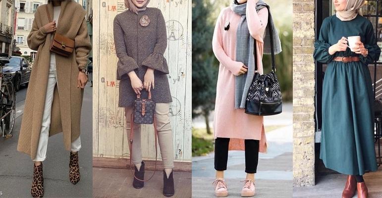 صورة ملابس بنات كيوت محجبات , موضة الشتاء للمحجبات 1108 9