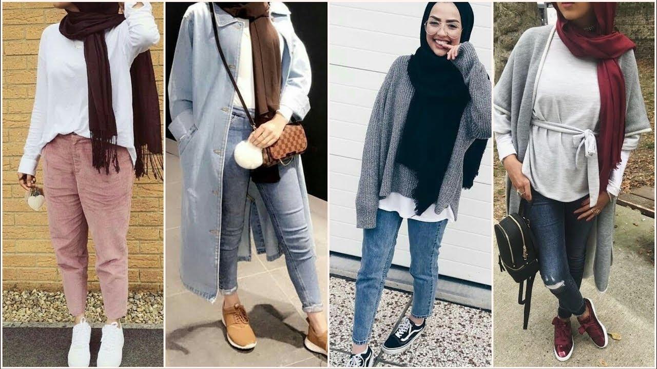 صورة ملابس بنات كيوت محجبات , موضة الشتاء للمحجبات 1108