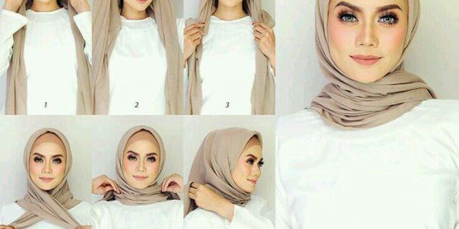 صور طرق لفات الحجاب بالصور , عايزة لفة طرحة للجامعة او العمل