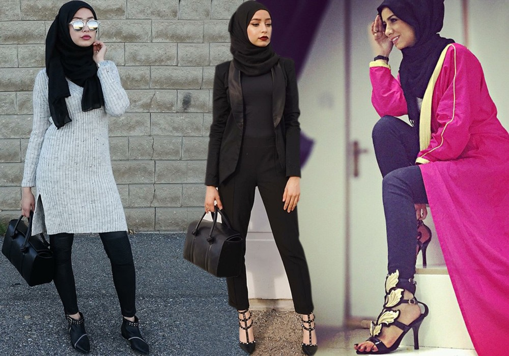 صورة تصاميم ملابس بنات محجبات , ملابس محجبات حديثه 7017 7