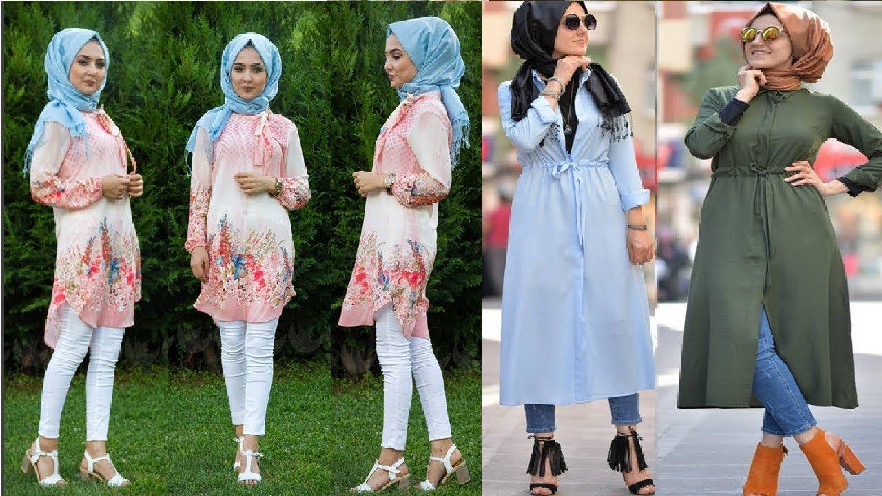 صورة تصاميم ملابس بنات محجبات , ملابس محجبات حديثه 7017