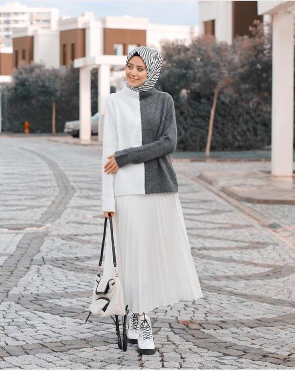 صورة لبس محجبات على الموضة , موديلات و تصاميم لملابس المحجبات 7021 1