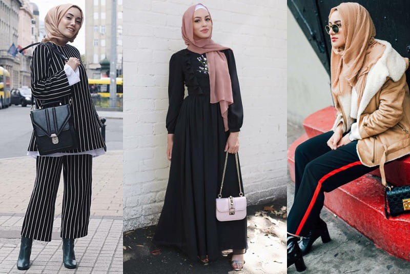 صورة لبس محجبات على الموضة , موديلات و تصاميم لملابس المحجبات 7021 4