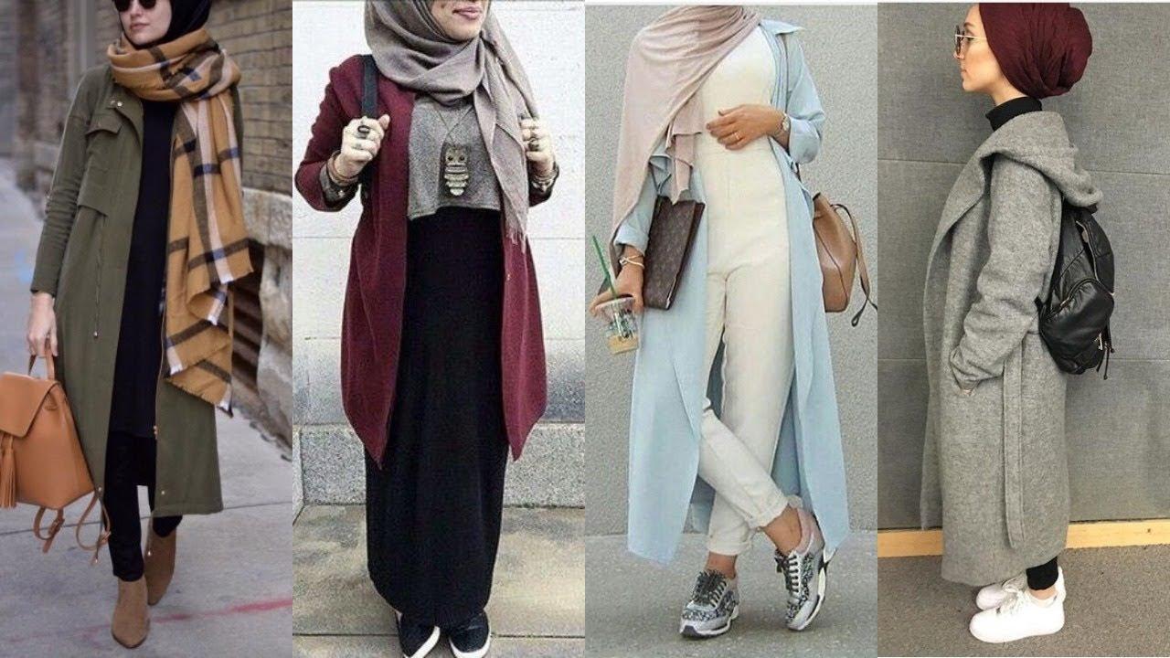صورة لبس محجبات على الموضة , موديلات و تصاميم لملابس المحجبات 7021 7