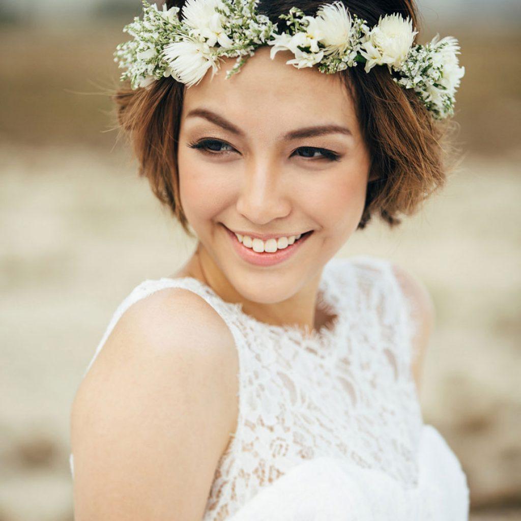 صورة تسريحات عرايس للشعر القصير , فرم شعر للعروسه جديده 7052 3