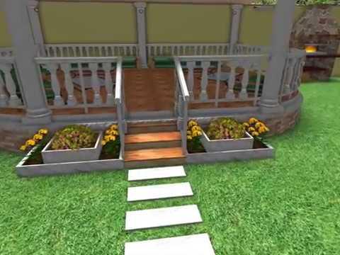 صورة تصميم حوش منزل , مخطط لمدخل المنزل