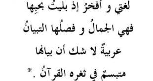 صورة قصيدة عن يوم اللغة العربية , موضوع تعبير عن اهميه اللغه العربيه
