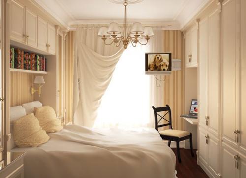 صورة ديكورات غرف نوم صغيرة وبسيطة , كيفيه اختيار اثاث غرف النوم الصغيره