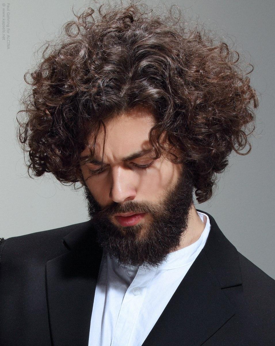 صورة شعر كيرلي للرجال , صور احدث تسريحات الرجال 7436