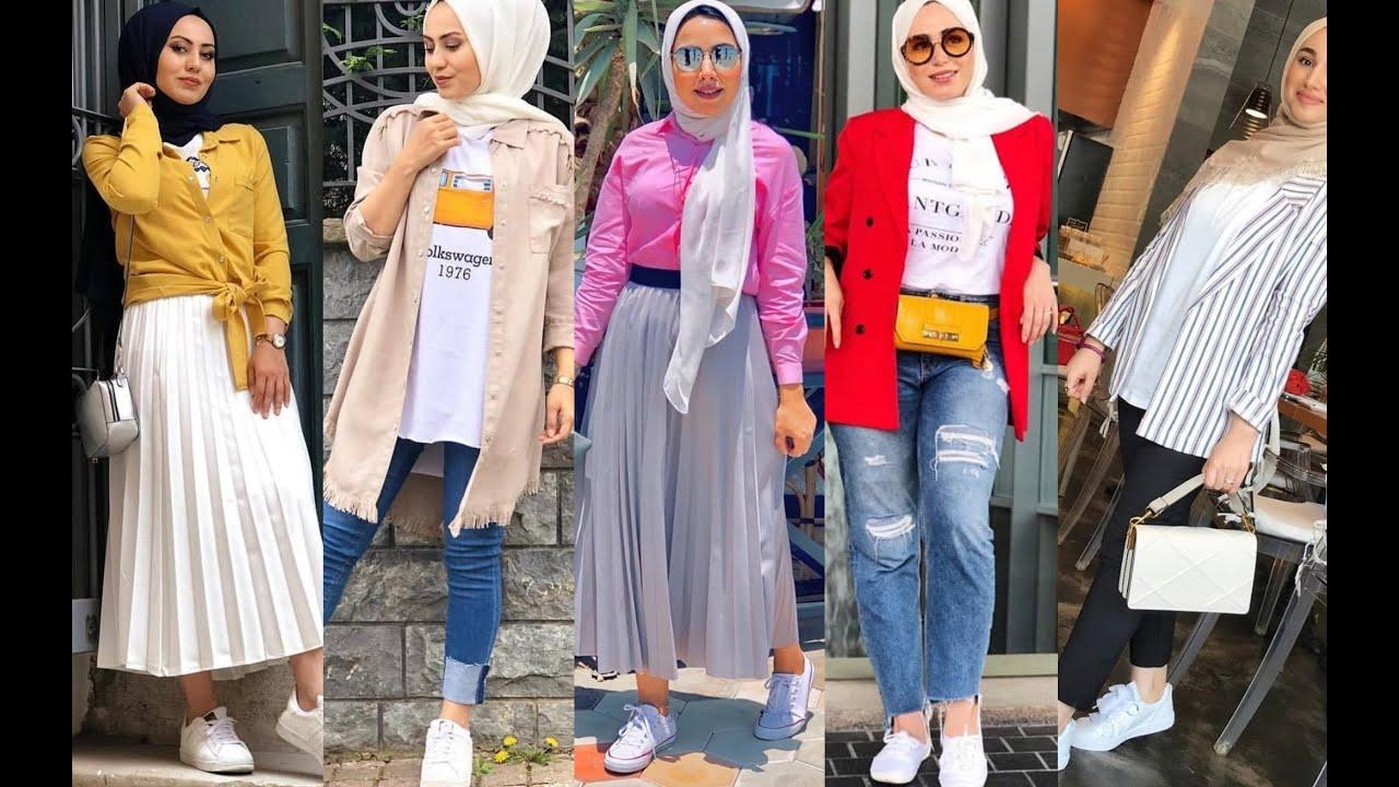 صورة احدث موديلات ملابس المحجبات 2019 , غيري ستايلك معانا