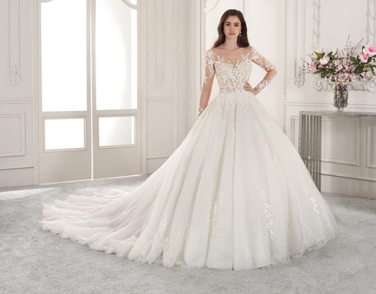 صورة بالصور اجمل فساتين الزفاف , اخر صيحة فستان الزفاف 2020