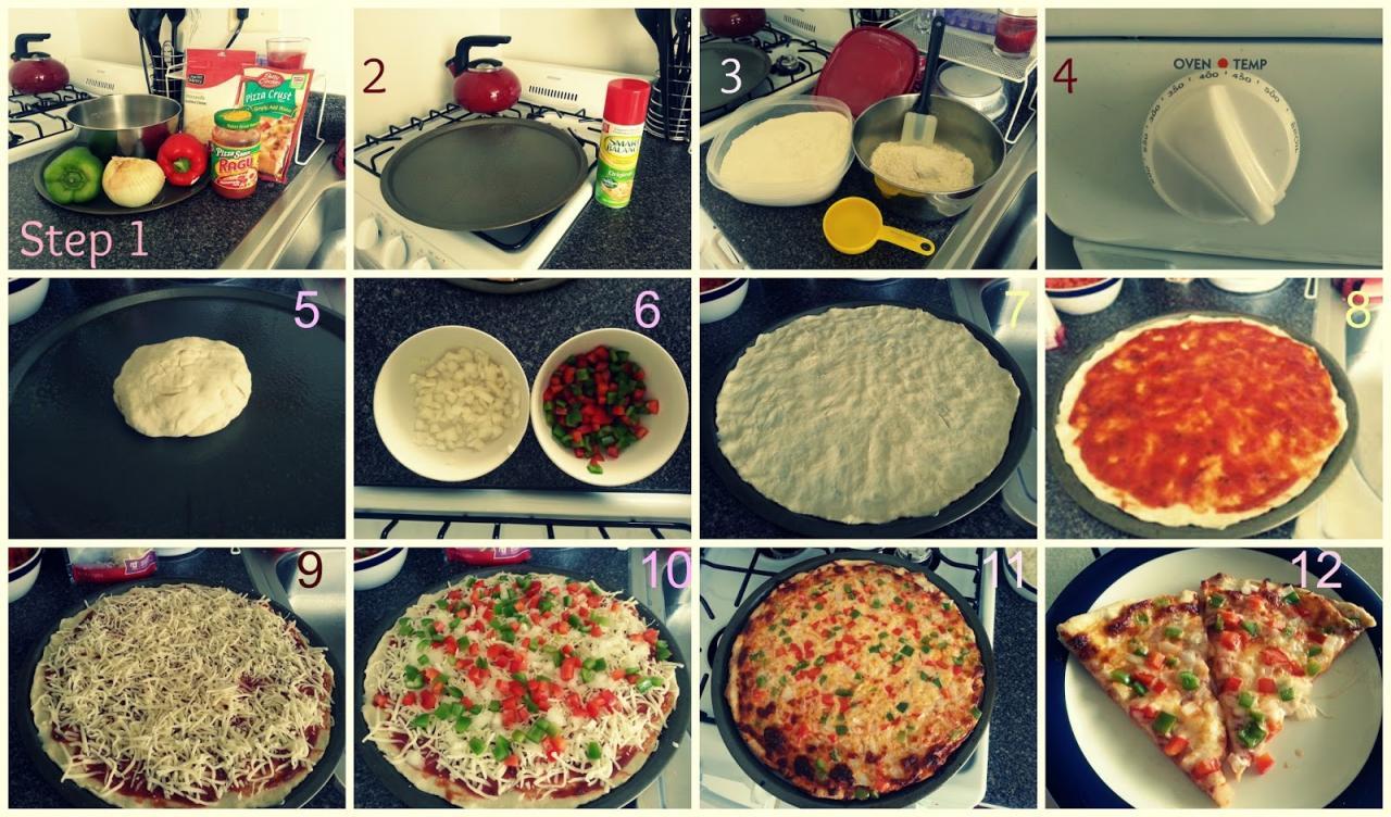 عمل البيتزا بالصور اسهل واطعم بيتزا في 10 دقائق احاسيس بريئة