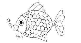 صورة طريقة رسم السمكة , تعليم الاطفال رسم سمكه